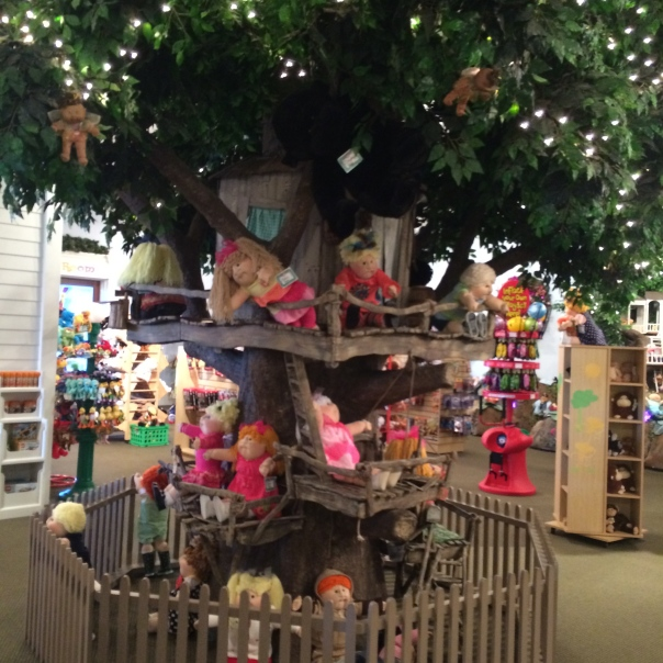 NOT a magic crystal tree. Just a basic treehouse tree. With baby fairies. Which no one ever explained.
